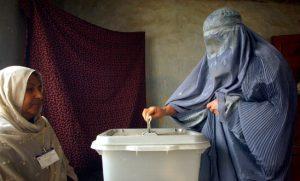 Afghan woman voting